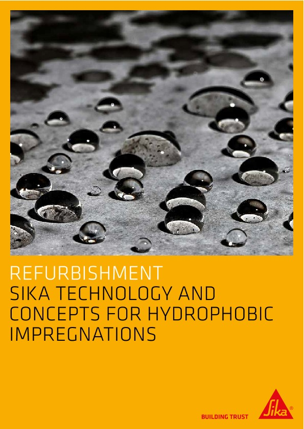 Sika Technology and Concepts for Hydrophobic Impregnations